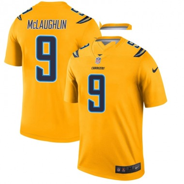 Men's Nike Los Angeles Chargers Chase McLaughlin Inverted Jersey - Gold Legend