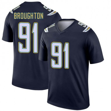 Men's Nike Los Angeles Chargers Cortez Broughton Jersey - Navy Legend