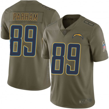 Men's Nike Los Angeles Chargers Donald Parham 2017 Salute to Service Jersey - Green Limited