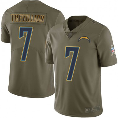 Men's Nike Los Angeles Chargers Fred Trevillion 2017 Salute to Service Jersey - Green Limited