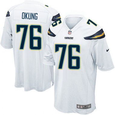 Men's Nike Los Angeles Chargers Russell Okung Jersey - White Game