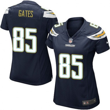 Women's Nike Los Angeles Chargers Antonio Gates Team Color Jersey - Navy Blue Game