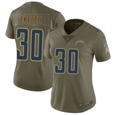 Women's Nike Los Angeles Chargers Austin Ekeler 2017 Salute to Service Jersey - Green Limited