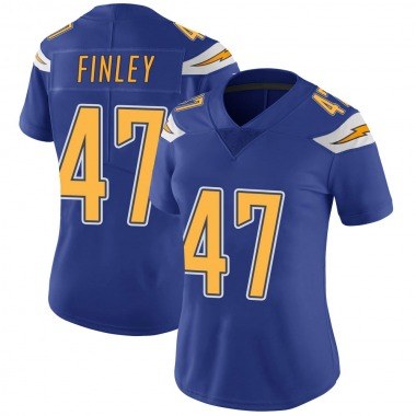 Women's Nike Los Angeles Chargers Romeo Finley Color Rush Vapor Untouchable Jersey - Royal Limited