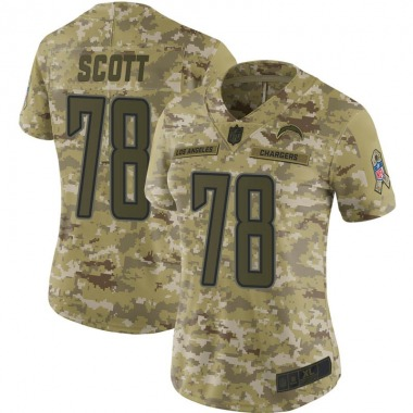 Women's Nike Los Angeles Chargers Trent Scott 2018 Salute to Service Jersey - Camo Limited
