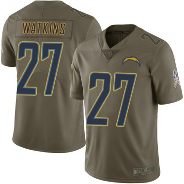 Youth Nike Los Angeles Chargers Jaylen Watkins 2017 Salute to Service Jersey - Green Limited