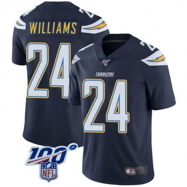 Youth Nike Los Angeles Chargers Trevor Williams 100th Vapor Jersey - Navy Limited