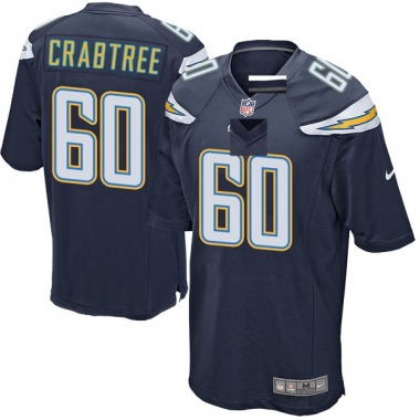 Youth Nike Los Angeles Chargers Zachary Crabtree Team Color Jersey - Navy Game